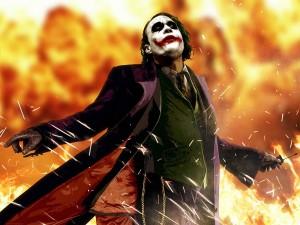 """El """"Joker"""" en llamas"""