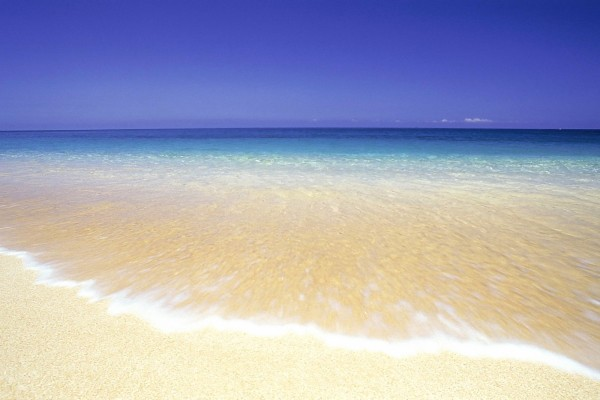 Horizonte azul en la playa