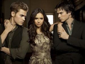 "Postal: Personajes principales de ""The Vampire Diaries"" (Crónicas vampíricas)"