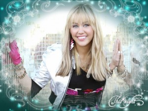 Postal: Hannah Montana sonriendo