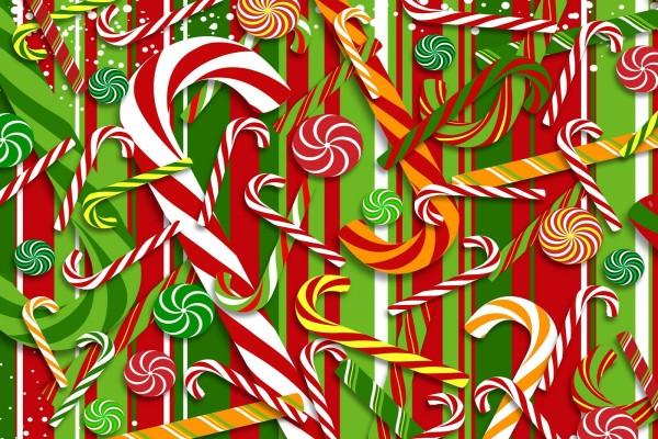 Estampado de dulces navideños