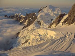 Postal: Glaciar Balfour, Parque Nacional Westland (Isla Sur de Nueva Zelanda)
