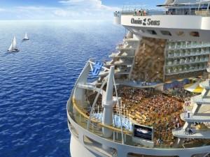 "Postal: El barco de cruceros ""Oasis of the Seas"""
