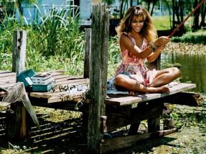 Postal: Día de pesca con Beyoncé