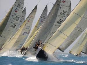 Una regata de vela muy disputada