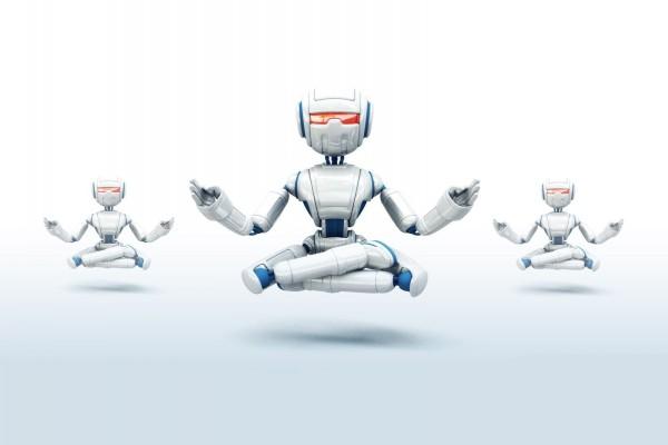 Robots practicando yoga