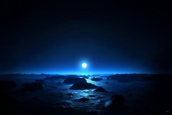Amanecer azul