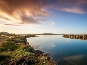 Postal: Étang de Thau (un lago de Francia)