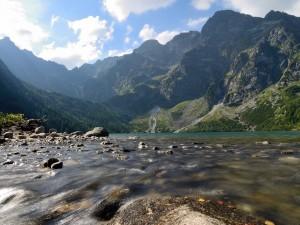 Postal: Morskie Oko, un lago en los Montes Tatras (Polonia)