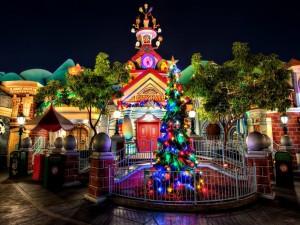 Postal: Árbol de Navidad en Disneyland