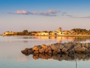 Amanecer en un lugar de Languedoc (Francia)