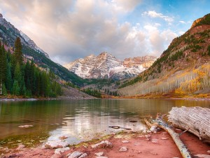 Maroon Lake, cerca de Aspen, Colorado