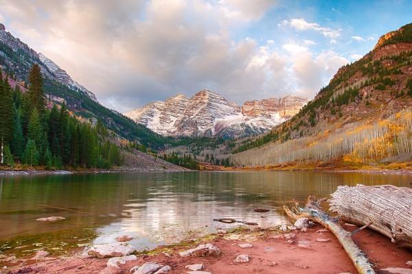 Maroon Lake, cerca de Aspen, Colorado