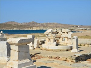 Postal: Ruinas de Delos (Grecia)