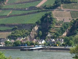 Postal: Valle del Rin a su paso por Alemania