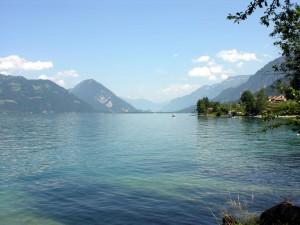Postal: Lago de Thun (Suiza)