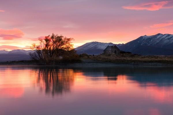 Amanecer en el Lago Tékapo (Nueva Zelanda)