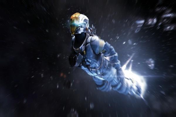 Isaac Clarke flotando en el espacio