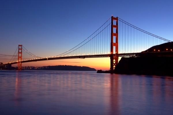 Luces en el Puente de San Francisco (Golden Gate)