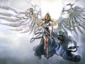 Un ángel listo para luchar