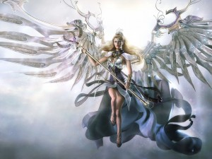 Postal: Un ángel listo para luchar
