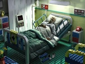 Enfermo soñando con su infancia