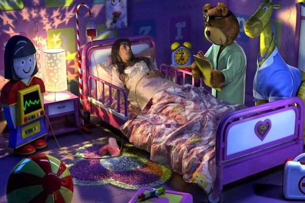 Enferma soñando con su infancia