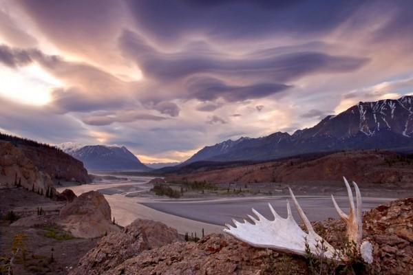 Nubes con formas misteriosas