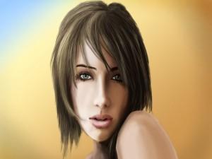 Dibujo de una chica guapa