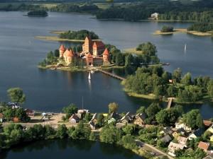 Postal: Castillo de Trakai (Lituania)