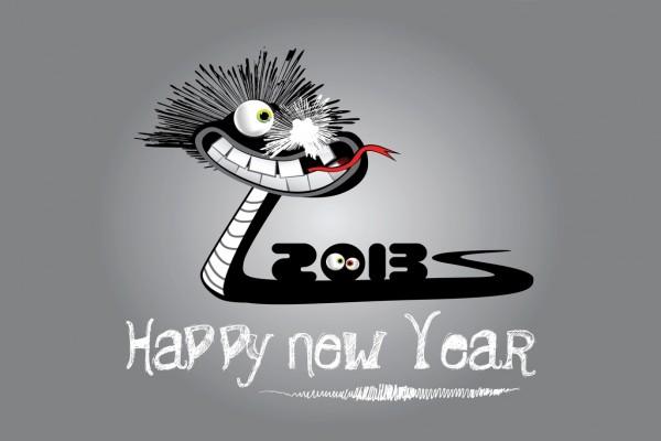 Una serpiente deseando un Feliz Año Nuevo 2013