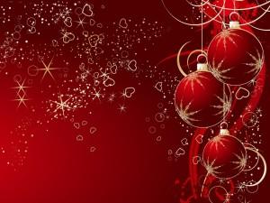 Bolas de Navidad y mucho amor