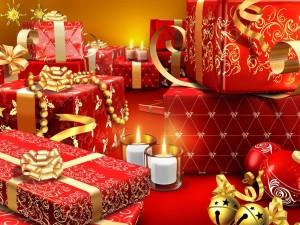 Postal: Muchos regalos listos para Navidad
