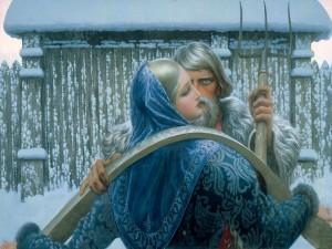 Postal: Pintura de Konstantín Vasíliev