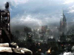 Postal: Una ciudad devastada