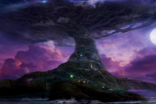 Árbol gigante tocando el cielo