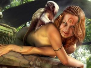 Postal: Elfa desnuda