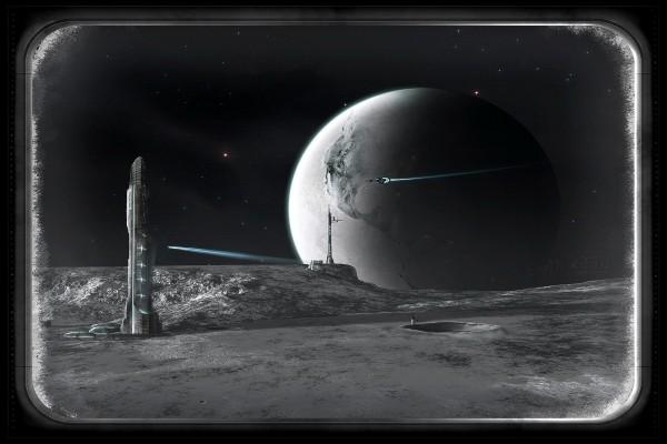 La Tierra, vista desde la Luna, en el año 2250