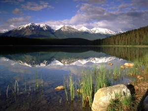 Postal: Lago Patricia, Parque nacional Jasper (Alberta, Canadá)