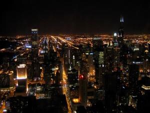 Luces infinitas de la ciudad