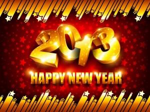 Postal: Feliz Año Nuevo 2013