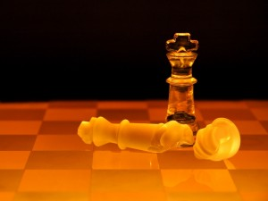 Postal: Ajedrez de cristal amarillo
