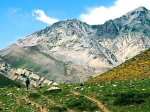 Postal: Senderismo por la Cordillera de los Andes