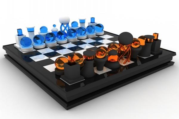 Tablero de ajedrez ultra-moderno