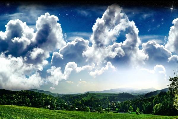 Un cielo de nubes perfecto