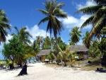 Una playa en las Maldivas