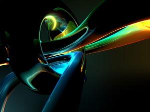 Volúmenes 3D multicolores