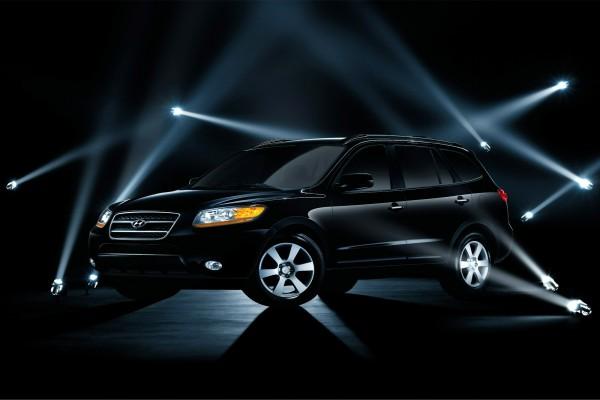 Todoterreno Hyundai Santa Fe en color negro
