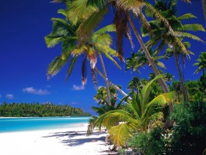 Postal: Playa paradisíaca