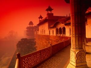 Postal: Niebla roja